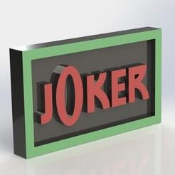 Download 3D printer designs Joker Plaque, taiced3d