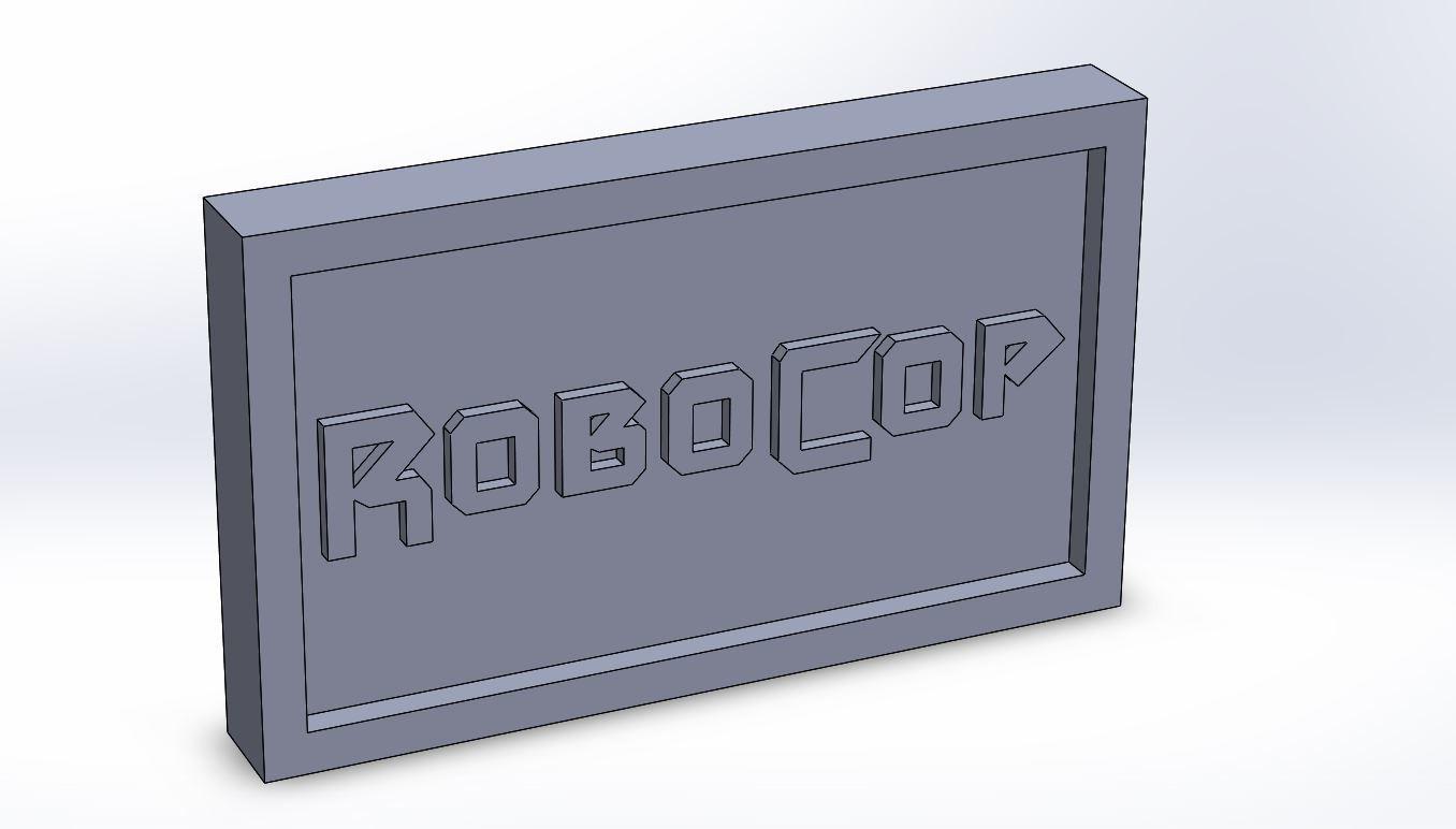 robocop_0.JPG Download STL file Robocop Plaque • 3D printing template, taiced3d