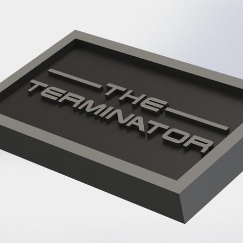 terminator_1.JPG Download STL file Terminator Plaque • Design to 3D print, taiced3d