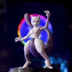 Download STL Mewtwo Pokémon, taiced3d