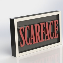 3d model Scarface Plaque, taiced3d