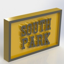 objet 3d Plaque de South Park, taiced3d
