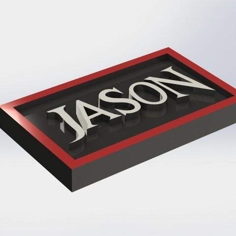 jason_1.JPG Download STL file Jason Plaque • 3D print object, taiced3d