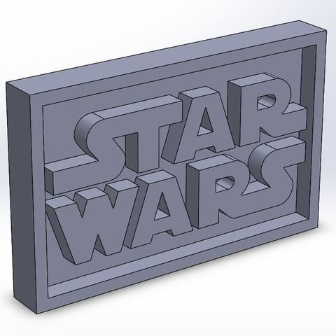 starwars_0.JPG Download STL file Star Wars Plaque • 3D printable model, taiced3d