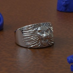 Download 3D printing models Lion Ring, taiced3d