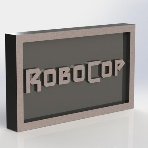 robocop_2.JPG Download STL file Robocop Plaque • 3D printing template, taiced3d