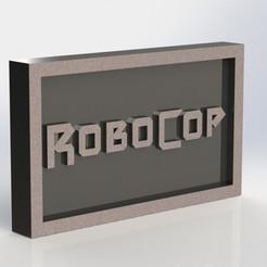 Impresiones 3D Placa Robocop, taiced3d