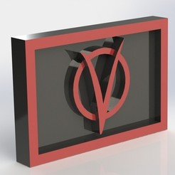 Imprimir en 3D gratis Placa V for Vendetta Logo, taiced3d