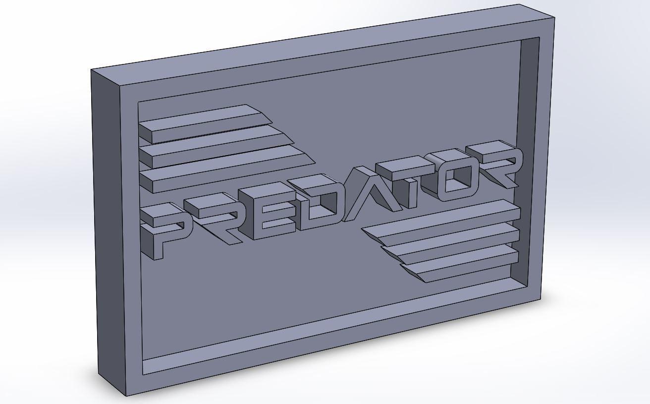 predator_0.JPG Download STL file Predator Plaque • 3D printer model, taiced3d