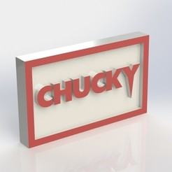 Download STL files Chucky Plaque, taiced3d