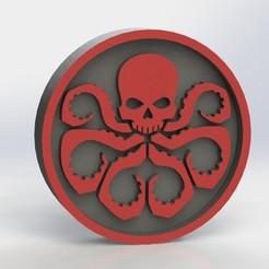 hydra_ref1.JPG Download STL file Hydra Logo Plaque • 3D print design, taiced3d