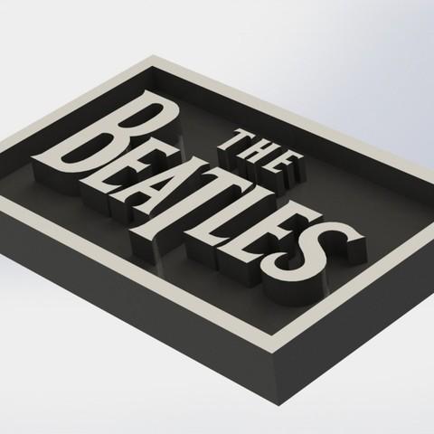 beatles_1.JPG Download STL file Beatles Plaque • 3D printing template, taiced3d