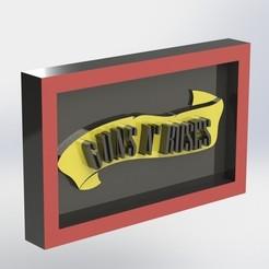 gunsnroses_2.JPG Télécharger fichier STL Guns n Roses • Design à imprimer en 3D, taiced3d