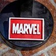 Download free 3D model Marvel Logo Plate, taiced3d