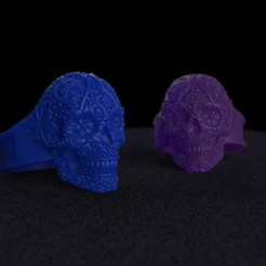 Descargar STL Skull Ring, taiced3d