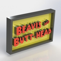 Download 3D printer model Beavis and Butthead Plaque, taiced3d