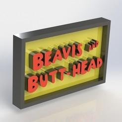 beavisnbutthead_2.JPG Télécharger fichier STL Plaque de Beavis et de Butthead • Objet imprimable en 3D, taiced3d