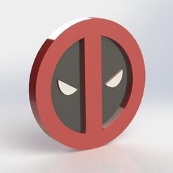 Descargar archivos STL Placa de Deadpool, taiced3d