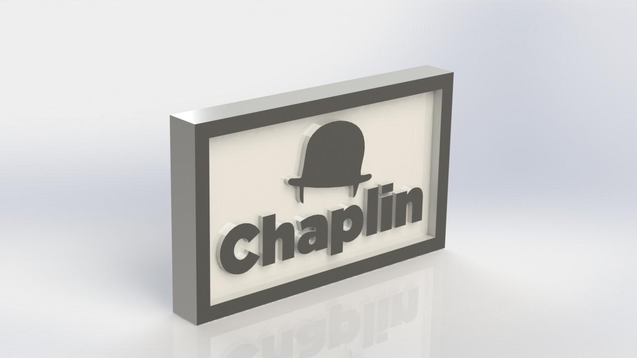 chaplin_2.JPG Download free STL file Chaplin Logo Plate • 3D print template, taiced3d