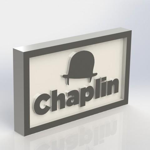 Diseños 3D gratis Placa Chaplin Logo, taiced3d