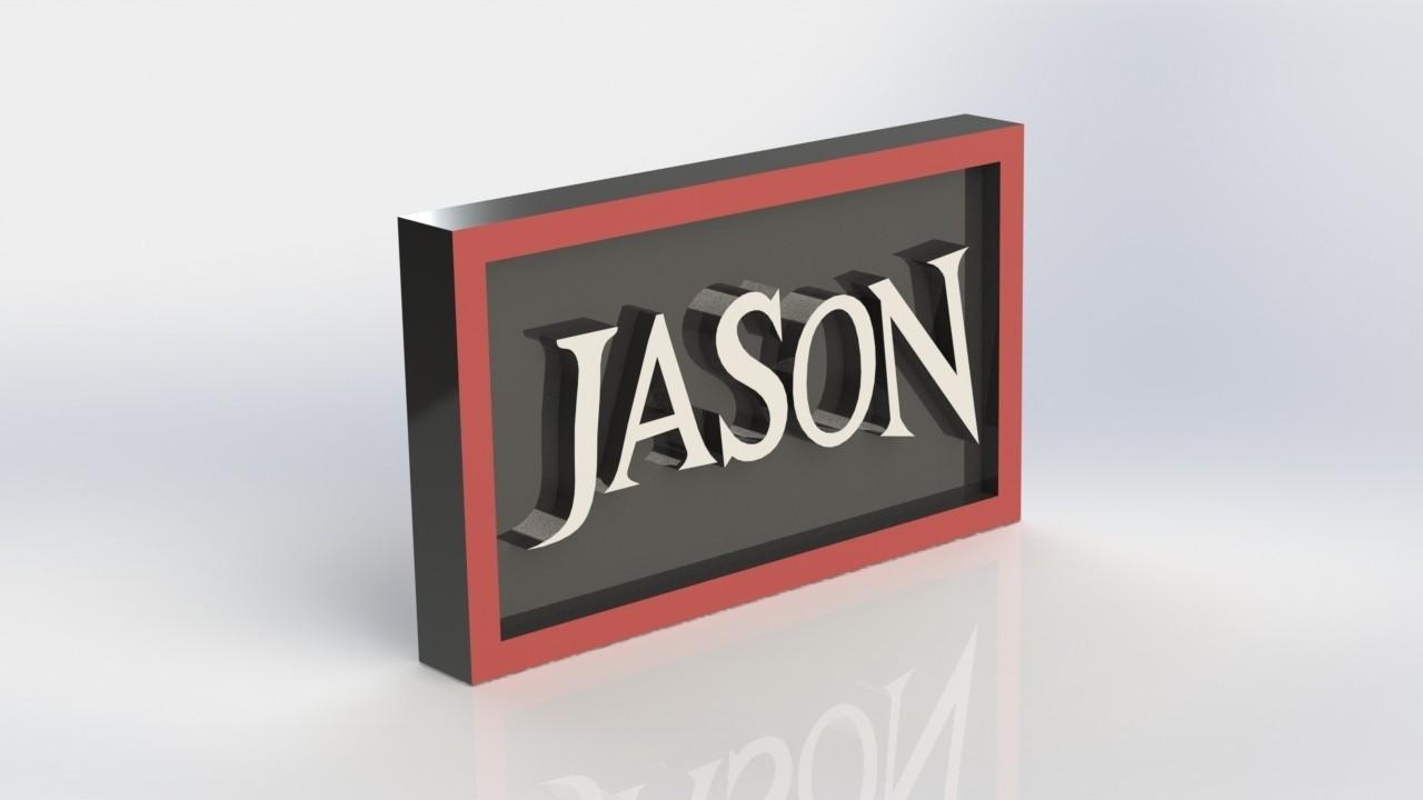 jason_2.JPG Download STL file Jason Plaque • 3D print object, taiced3d
