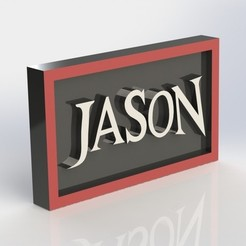 3D printing model Jason Plaque, taiced3d