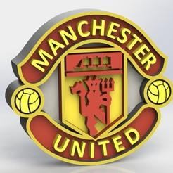 manchester_united_ref1.JPG Télécharger fichier STL Logo de Manchester United • Objet pour imprimante 3D, taiced3d