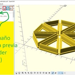 Captura.JPG Download free SCAD file cookie cutter triangles • 3D print template, ledblue