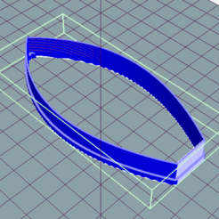 Download free STL Surfboard cookie cutter, ledblue