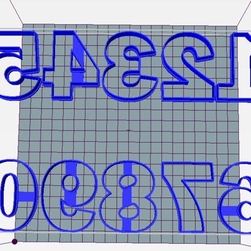 Download 3D printer designs Cookie cutter numbers, ledblue