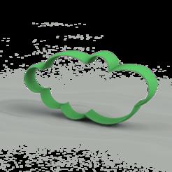 Modelos 3D Kit Clouds - Cookie cutter - Nubes varias - Cortantes  , ledblue