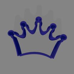 corona 50mm.png Download STL file CROWN COOKIE CUTTER 50mm • 3D printer model, ledblue