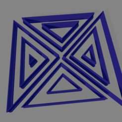 Triangulo X10 rectangulo.png Download free STL file cookie cutter triangles • 3D print template, ledblue