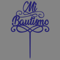 mi bau firulete 2.png Download free STL file My baptism topper cake • 3D printer object, ledblue