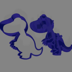 dino r.png Download STL file Dinosaur dino cookie cutter r • 3D printing model, ledblue