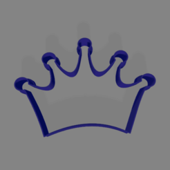 corona 100mm.png Download STL file Cookie Cutter Crown 100mm • 3D printable template, ledblue