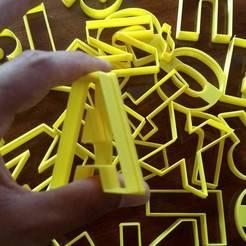 Descargar STL Abecedario A-Z cookie cutter cortante 60mm altura , ledblue