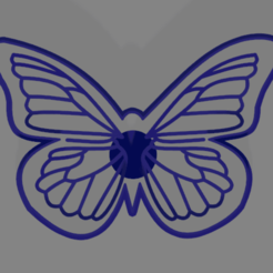 mariposa 70 alto.png Download STL file Butterfly cookie cutter • 3D printing model, ledblue