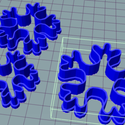 copo.PNG Download STL file Snowflake cookie cutter • Object to 3D print, ledblue