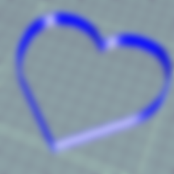 Download free STL files HEART HEART COOKIE CUTTER, ledblue