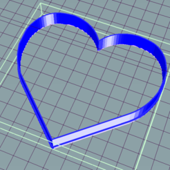 Descargar diseños 3D gratis CORAZON HEART CORTANTE COOKIE CUTTER, ledblue