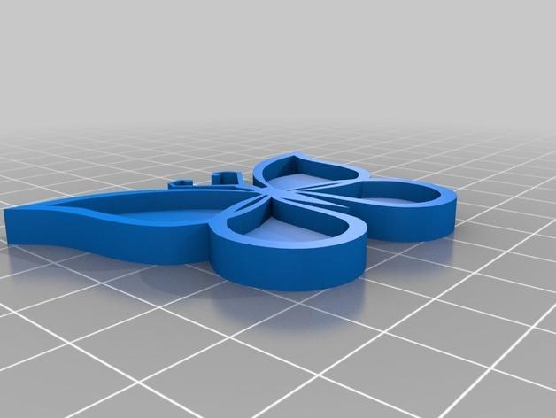 d7288724e04d61c3303d24fdd16defa1_preview_featured.jpg Download free STL file Butterfly • 3D printer model, ledblue
