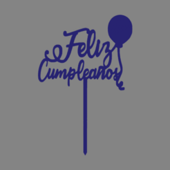 feliz cumple 005.png Download free STL file Happy birthday happy birthday cake topper • 3D print model, ledblue