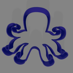 pulpo paul.png Download free STL file cookie cutter octopus • 3D printing model, ledblue