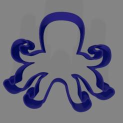 pulpo paul.png Télécharger fichier STL gratuit pieuvre à l'emporte-pièce • Plan à imprimer en 3D, ledblue