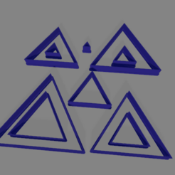 triangulo eq x10.png Download free STL file cookie cutter triangles x10 • Object to 3D print, ledblue