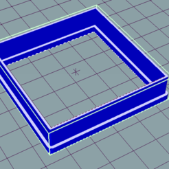 Download free 3D printing files Square cookie cutter, ledblue