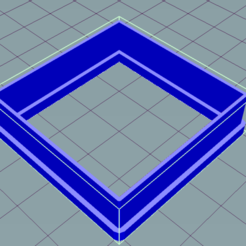 4040.PNG Download free STL file Square cookie cutter • 3D printer design, ledblue
