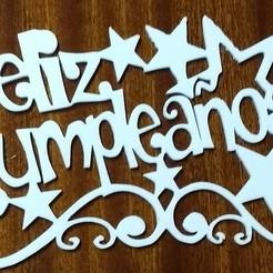 Download STL file Happy Birthday Topper Cake Poster • 3D printable design, ledblue