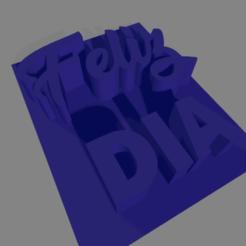 Feliz dia sello.png Télécharger fichier STL Joyeuse journée du timbre • Objet à imprimer en 3D, ledblue